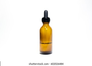 Glass Amber Bottle with dropper cap