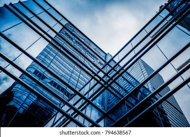 Glasarchitektur des modernen Gebäudes in Tokio