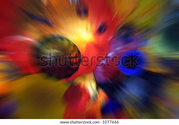 Glass art blur
