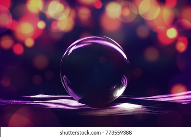 Glass ball with abstract light for design