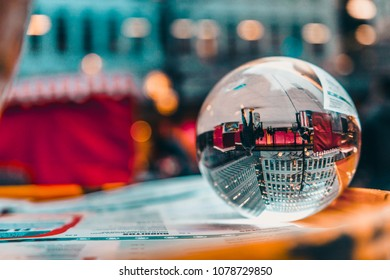 Glass ball game, London (UK)