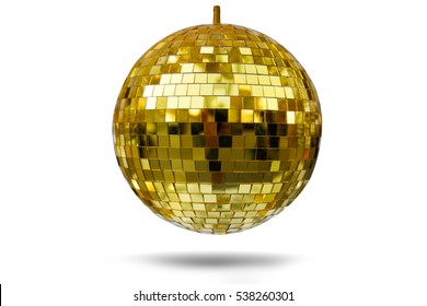 Glass ball isolated on white background.