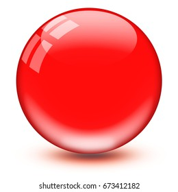 Glass ball red