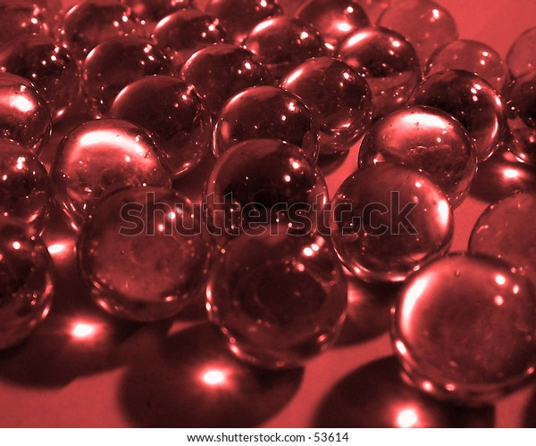 Glass balls, red tone.