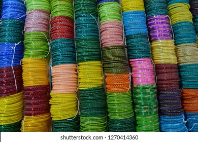 Glass bangles or Churiya are worn by Indian or Pakistani girl, women as part of their beautification. it is also worn during wedding.