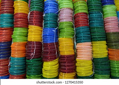 Glass bangles or Churiya are worn by Indian or Pakistani girl, women as part of their fashion. it is also worn during wedding.