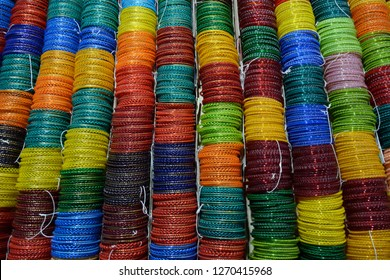 Glass bangles or Churiya are worn in hands by the Indian or Pakistani girl, women as part of their beautification. it is also worn during wedding.