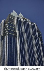 Glass Bank building in downtown Austin TX