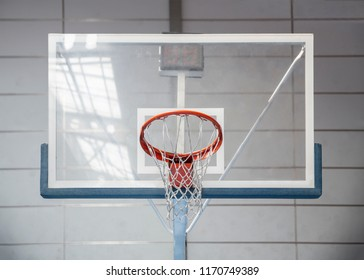Glass basketball hoop and pane