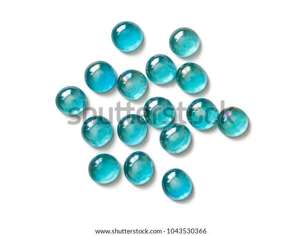 Glass Beads Aquamarine Color Made Technique Stock Photo Edit Now 1043530366
