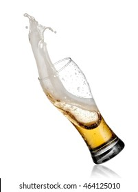Glass with beer up