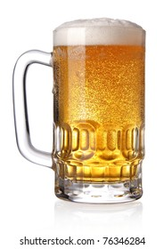 Glass of beer (clipping path)