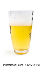 Glass of beer isolated. Clipping Path.