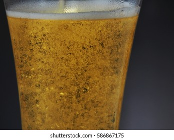 a glass of beer on table