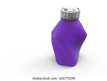 Glass bottle artistic isolate 3D colored
