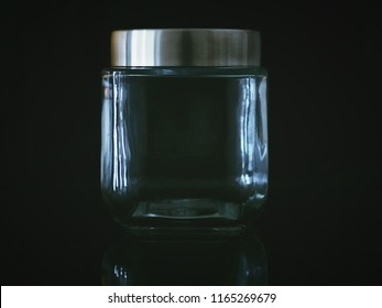 glass bottle with black background
