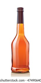 Glass Bottle for Cognac or Brandy. Serie of images.