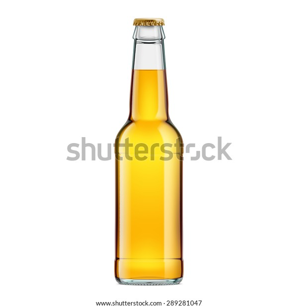 Glass Bottle Gold Beer Crown Cap Stock Photo (Edit Now