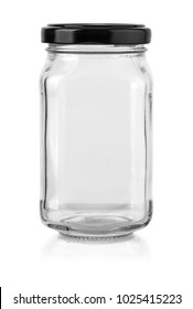 glass bottle isolated on white with clipping path
