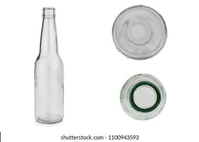 glass bottle isolated on white background.