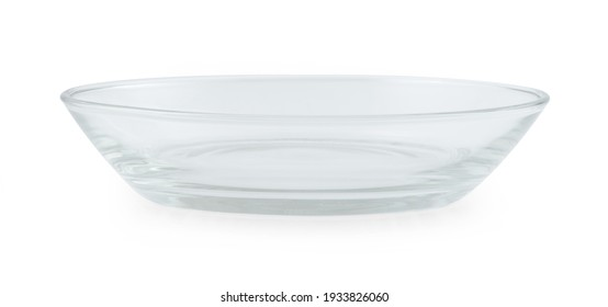 glass bowl isolated on white background