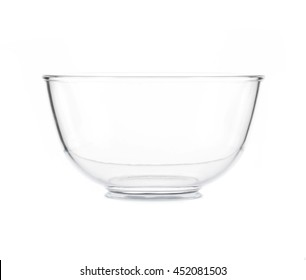 Glass bowl isolated on white