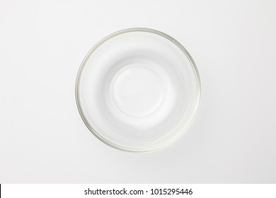 Glass bowl on white background