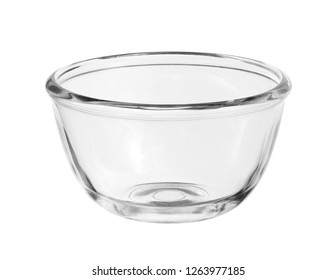 Glass bowl (with clipping path) isolated on white background