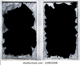 glass breakage, shard, smashed, window, danger