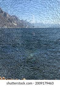 A glass broken on Riva di Solto 7 March 2021