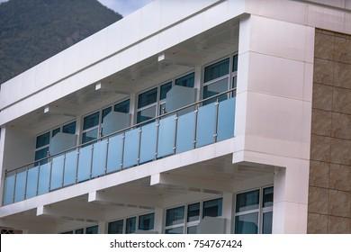 glass building balcony