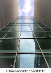 Glass Building looking towards the cloud
