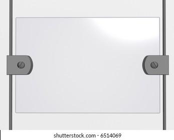 Glass bulletin board. 3d image.