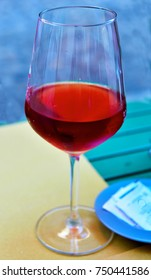 glass of Calabrian red wine