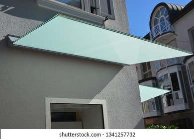 Glass Canopy at a residential Building