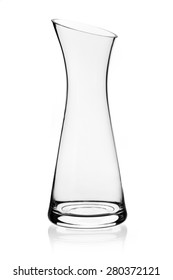glass carafe isolated