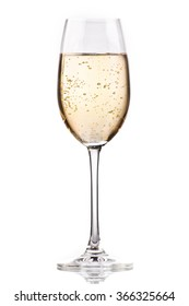 A glass of chilled champagne
