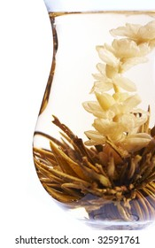 glass of Chinese tea flower
