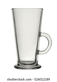 Glass coffee latte cup
