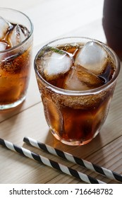 Glass of cola.