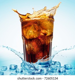 Glass of Cola and Ice