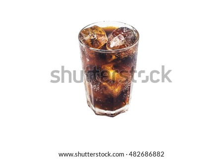 glass of cola with