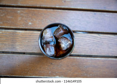 Glass of cold brew coffee - Stock image