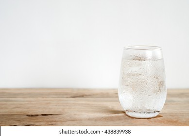 a glass of cold water