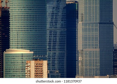 Glass and concrete skyscrapers. Moscow