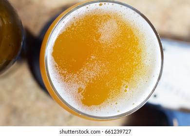 Glass of craft beer closeup