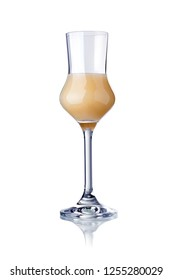 glass of cream liqueur