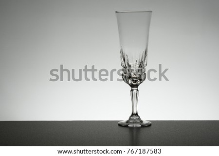 Glass Crystal On Mirror Backlight Stock Photo Edit Now 767187583