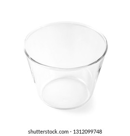 glass of cup isolated on white background