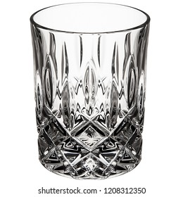 glass cup on white background